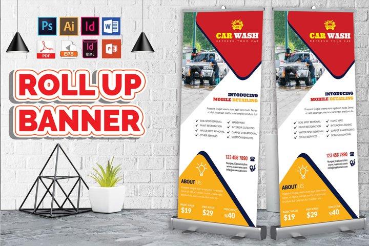 Car Wash Rollup Banner Vol-10