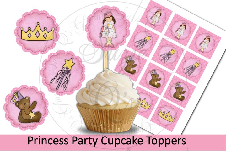 Princess Party Cupcake Toppers - 4 cutting options