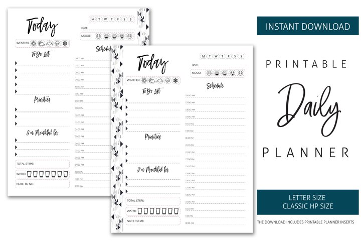 Printable Daily Planner Inserts