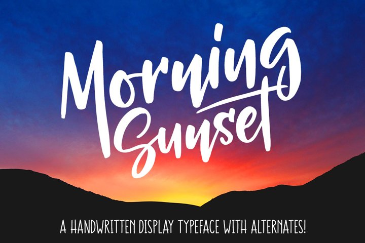 Morning Sunset - Free Font of The Week Font