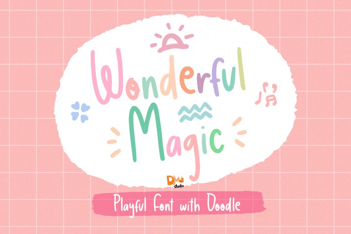 Wonderful Magic - Playful Handwritten Font