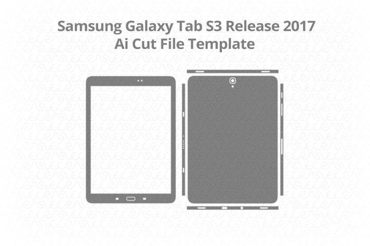 Samsung Galaxy Tab S3 Vinyl Skin Vector Cut File Template 20