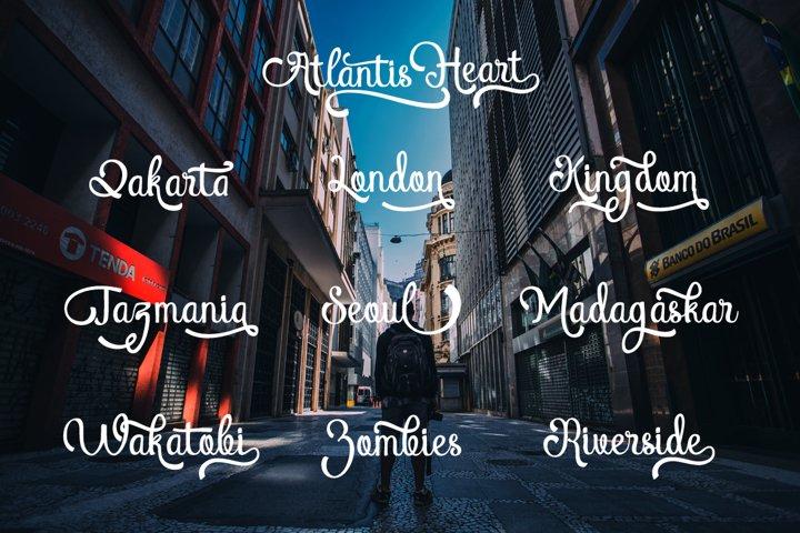 Atlantis Heart - Free Font of The Week Design2