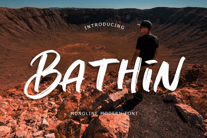 Bathin Monoline Modern Font