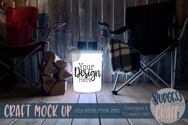 Bucket light table white III | Craft mock up