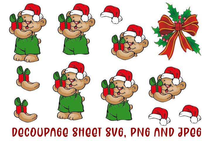 Cute Christmas Decoupage SVG, PNG and JPEG
