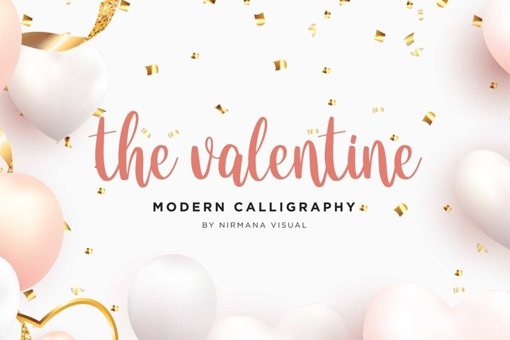 The Valentine - Modern Calligraphy