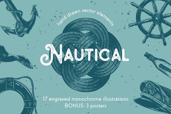 Nautical hand drawn sketches