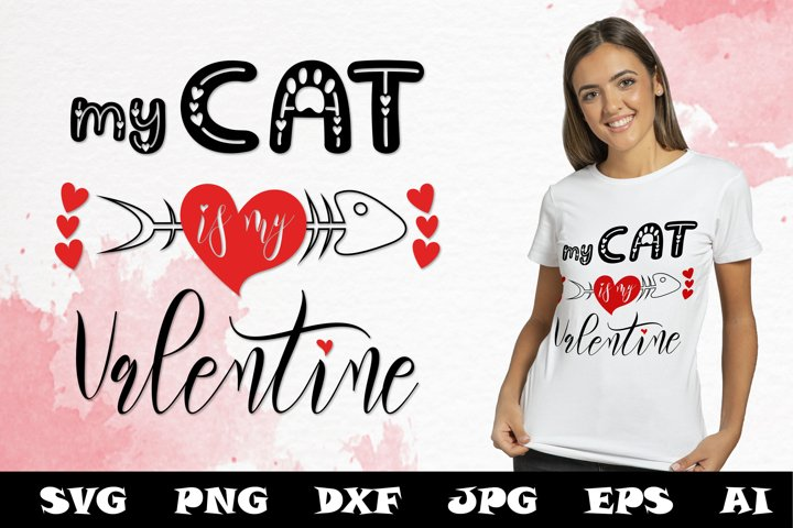 Download My Cat Valentine Svg Cut Files Valentine Cat Svg Quotes 1159724 Cut Files Design Bundles