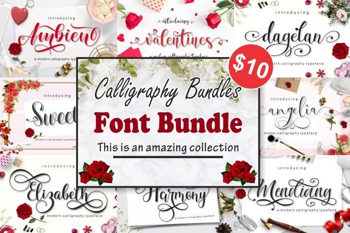 calligraphy font bundles