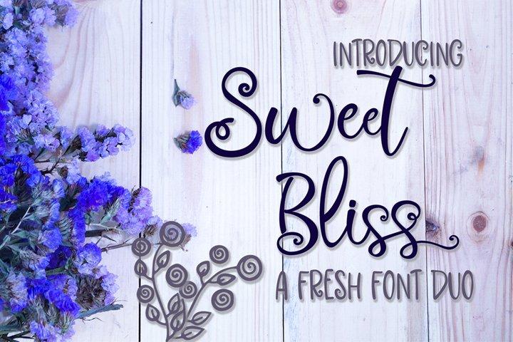 Sweet Bliss Font Duo