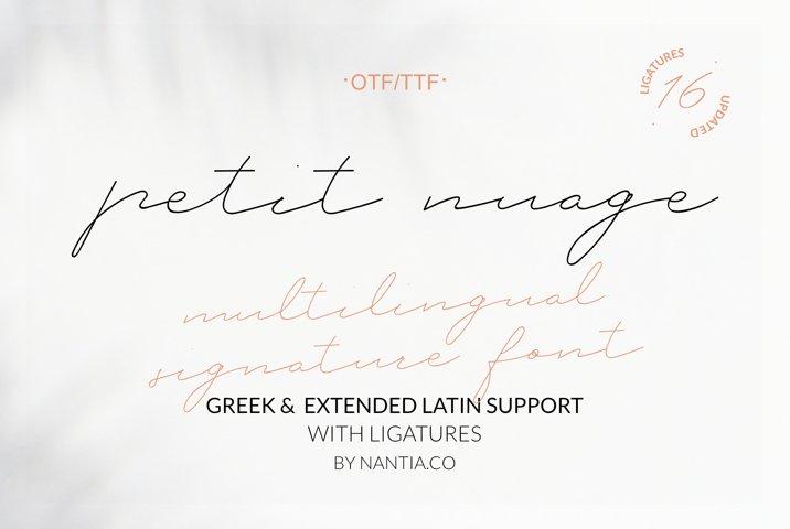 Petit Nuage Signature Font