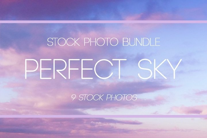 Magic perfect sunset sky with clouds Bundle
