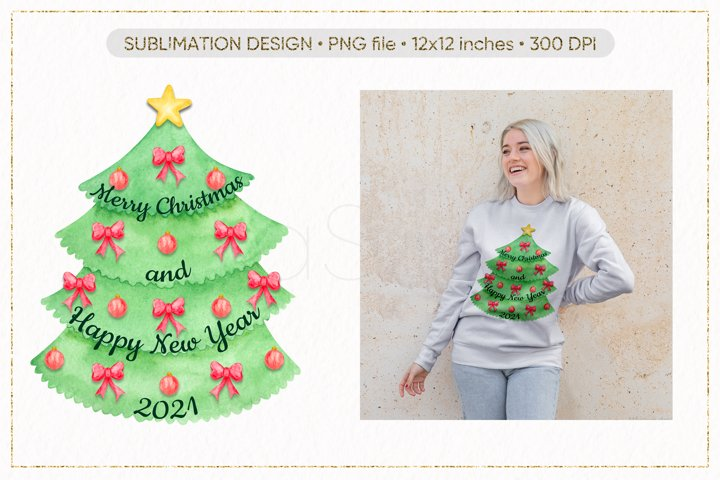 Christmas Tree PNG, Merry Christmas PNG, New Year 2021 PNG