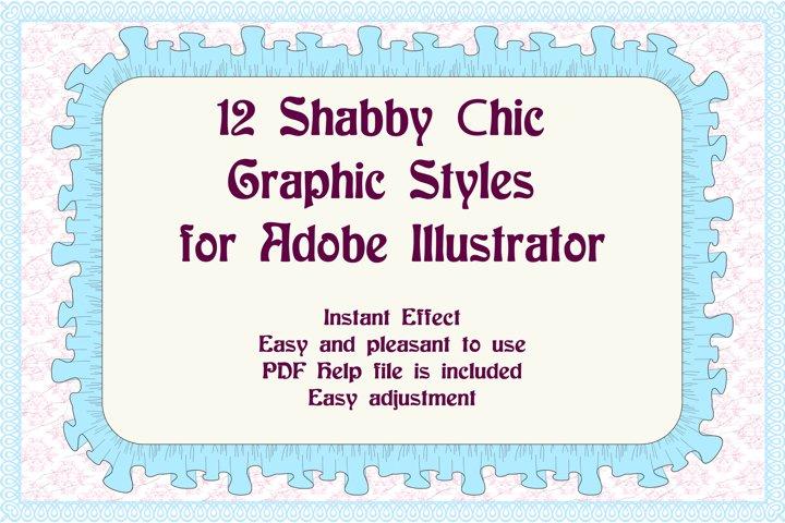12 Shabby Chic Adobe Illustrator Graphic Styles