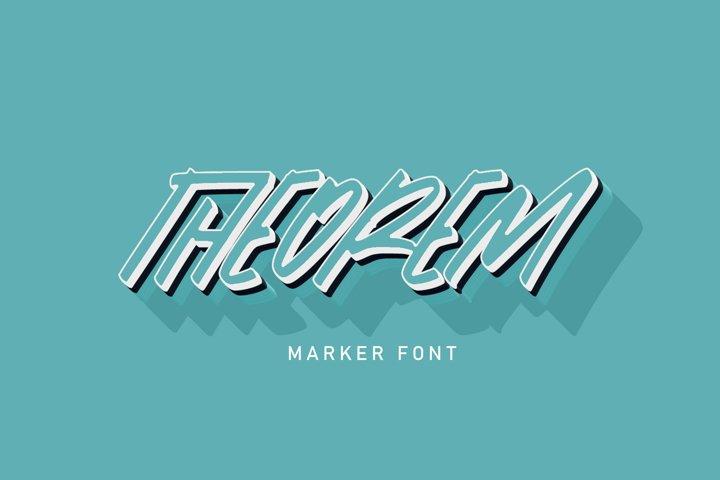 Theorem | Marker Font