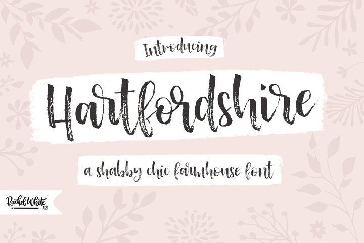 Hartfordshire, a shabby chic farmhouse font