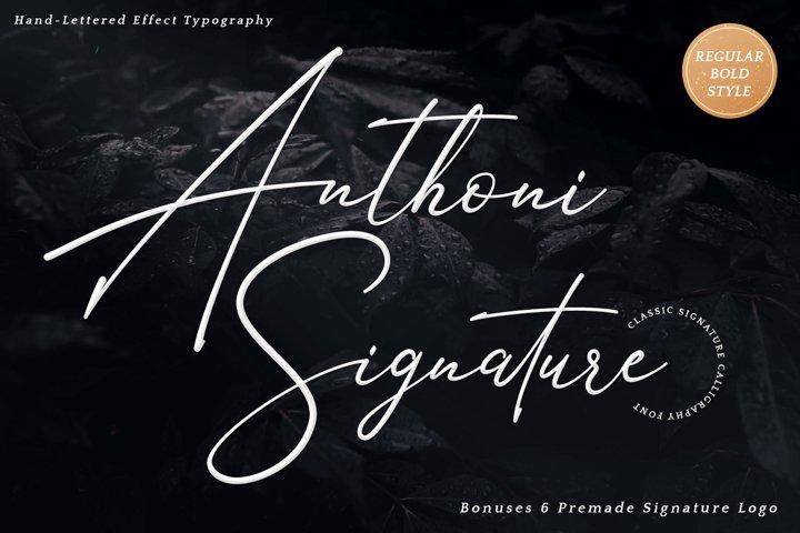 Signature Font - Anthoni Signature