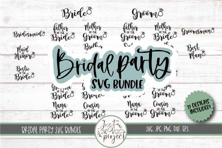 Bridal Party svg, Wedding SVG Bundle, Bridal Party Bundle
