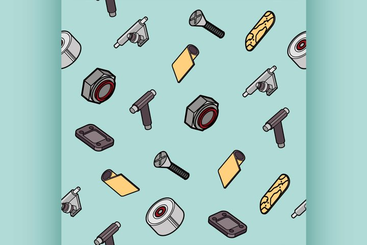 Skateboard spare parts pattern