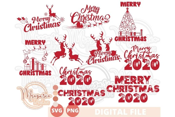 Chirstmas Bundle SVG, Reindeer Christmas 2020, Merry Xmas
