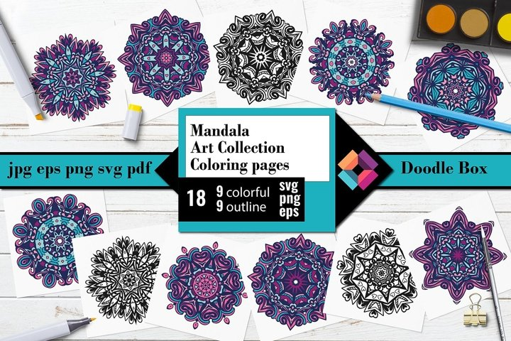 Mandala Art Collection Coloring Pages