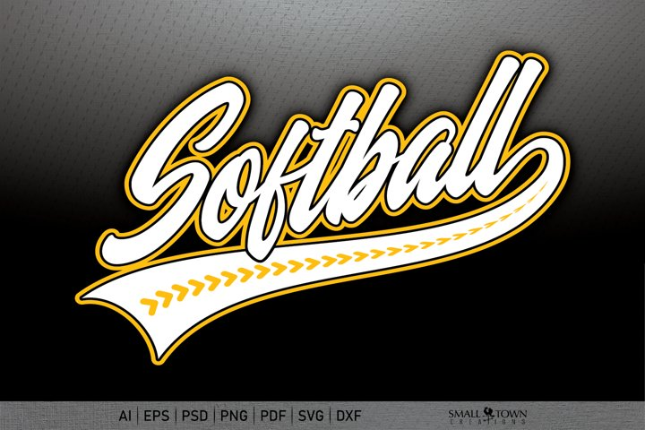 Softball, Softball Stitches, Threads, PRINT, CUT, DESIGN