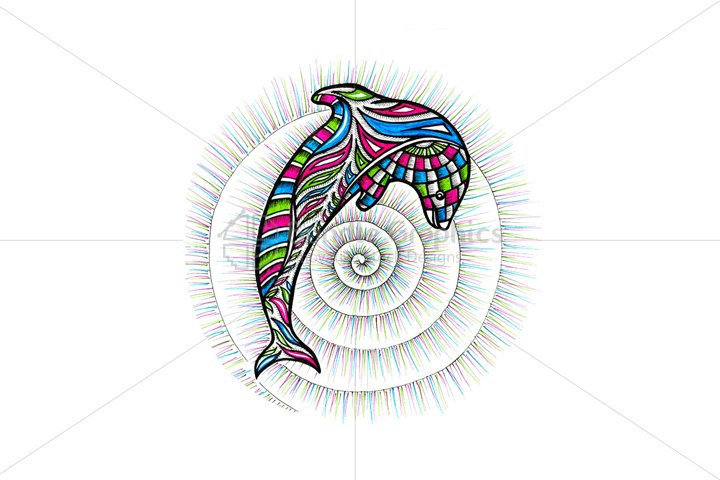 Dolphin – Colorful Handmade Graphics