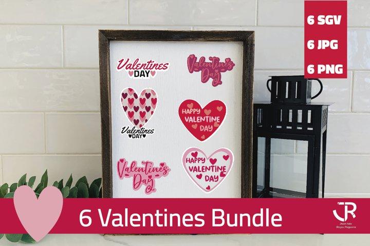 Valentines PNG SVG JPG Sticker Pack