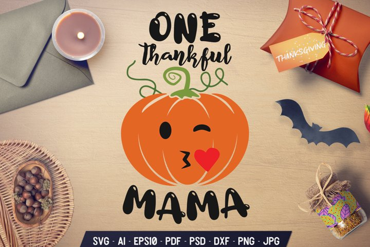 Fall SVG Cut File Thanksgiving Mama Holiday Sign DXF PNG