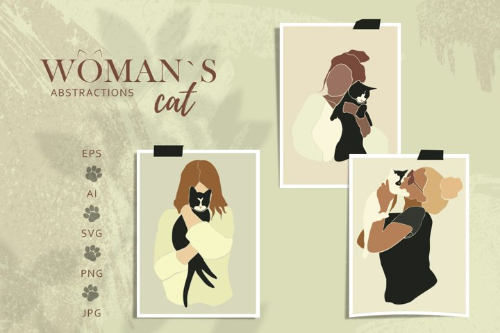 Woman Cat abstractions
