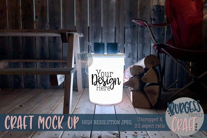 Bucket light table white II | Craft mock up