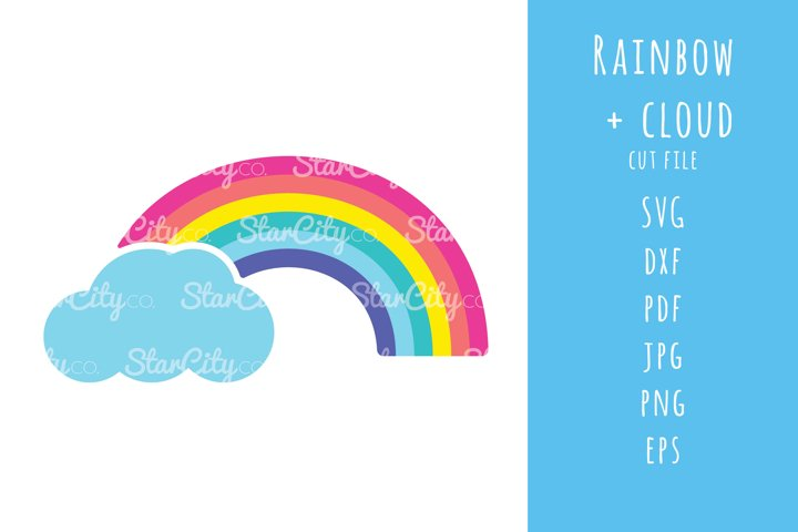 Rainbow and Cloud SVG cut files, Rainbow cutting files