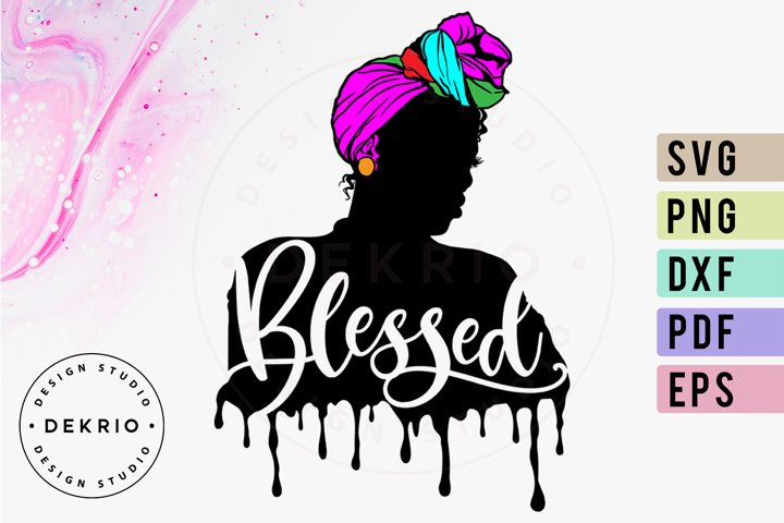BLESSED Queen SVG PNG DXF EPS PDF Files