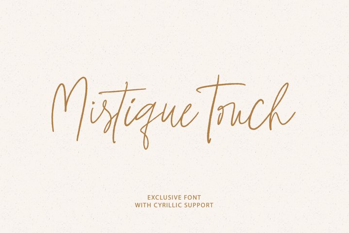 Mistique Touch Latin & Cyrillic