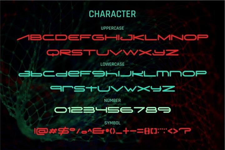 Digitechno - Futuristic Font example 7
