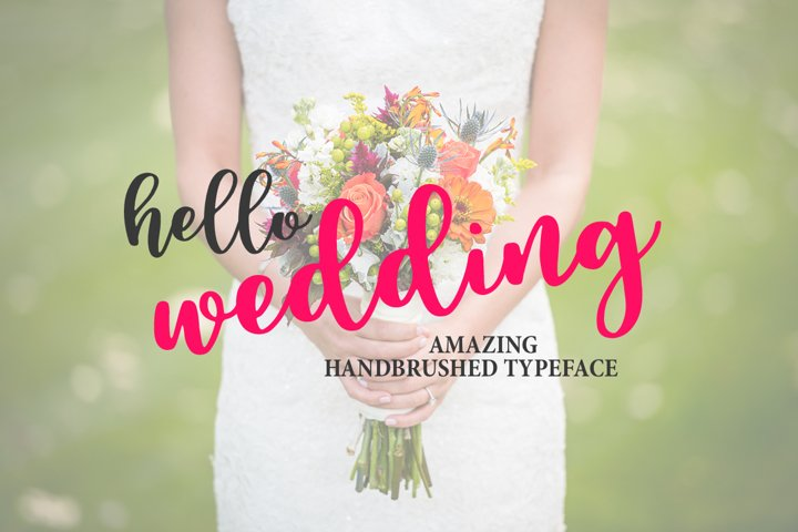 Hello Wedding - Free Font of The Week Design4