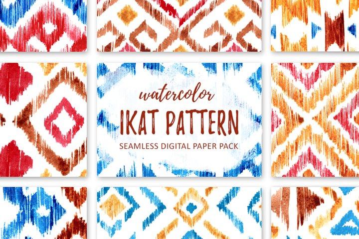 Watercolor IKAT patterns