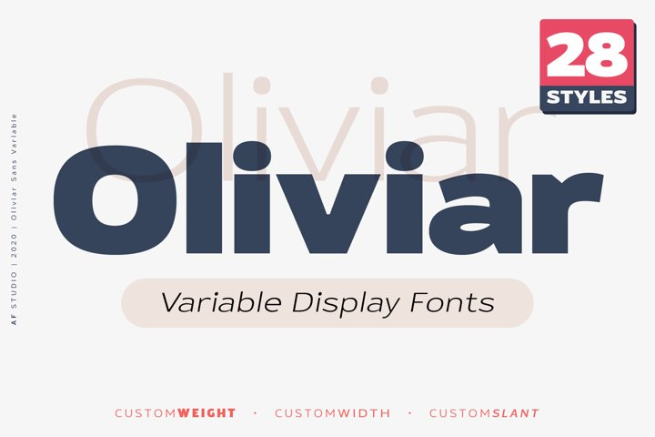 Oliviar Sans - Variable Display Fonts