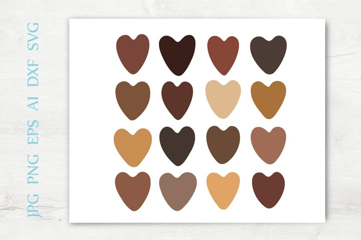 SVG Brown Hearts Cliparts