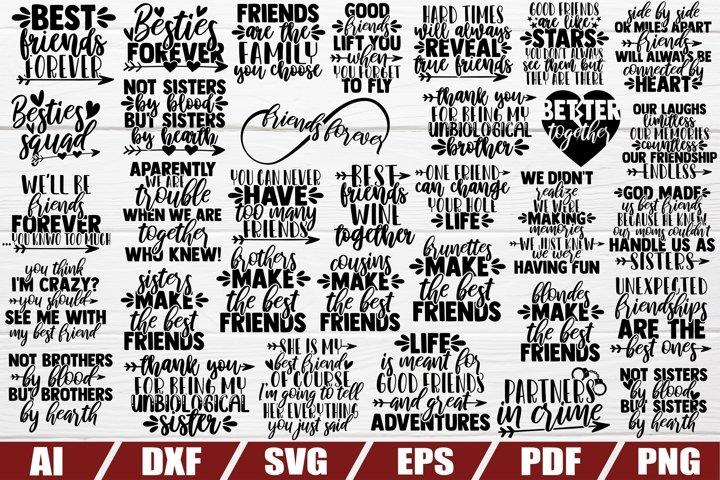 Friendship SVG Bundle - Best friend - sayings - quotes