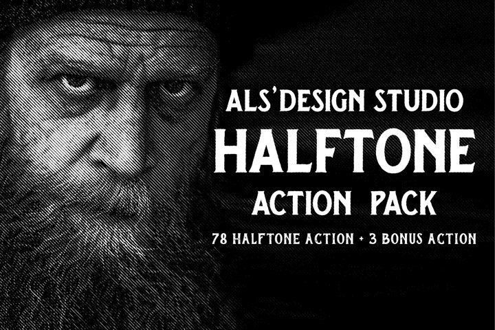 ALs Halftone Action Pack
