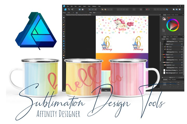Enamel Camping Cup Layout Tool Affinity Designer - A4 Page