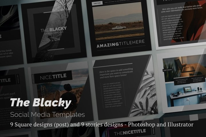 The Blacky Social Media Templates