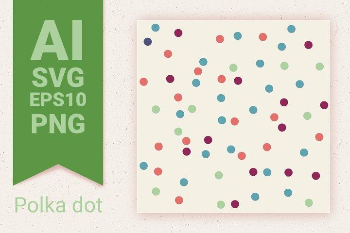 Confetti seamless pattern & bunch