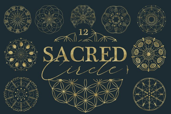Sacred Circle geometry SVG, PNG, Ai, DXF