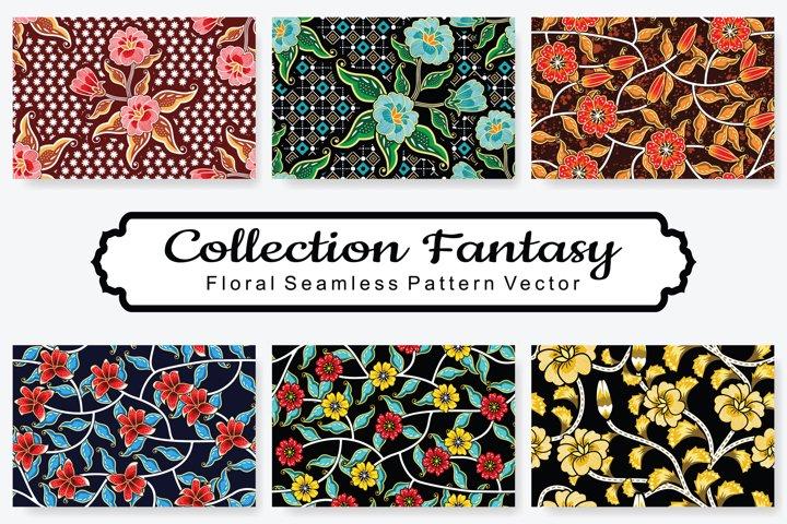 Set Of Fantasy Floral Vector Pattern Vol.17
