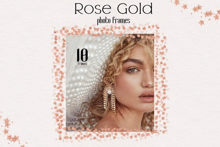 Rose Gold Photo Frame Overlays