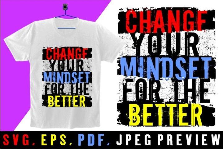 mindset simple t shirt graphics