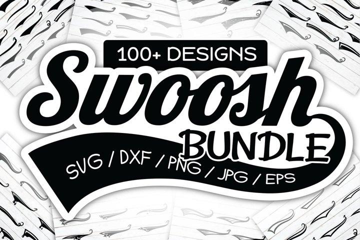 Swoosh SVG Swashes Swish Baseball Tail Paint PNG/DXF/EPS/JPG